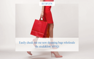 Easily check out our new shopping bags wholesale Ecoflyn ( In stock&low MOQ)
