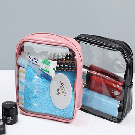 zippered travel clear toiletry bag