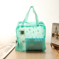 PVC organizer tote bag handle toiletry bags