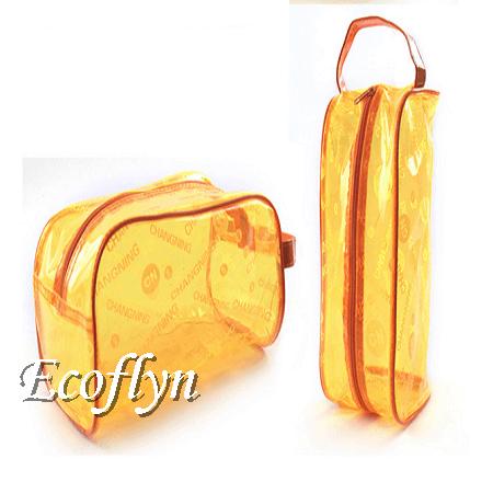 custom orange zippered beach bags sale