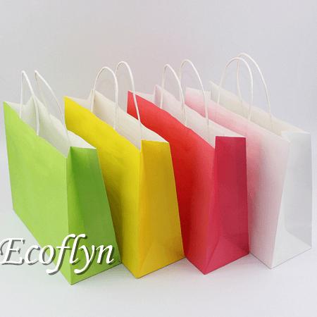 custom plain neon paper bags discount