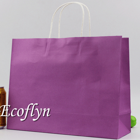 purple custom neon paper bags