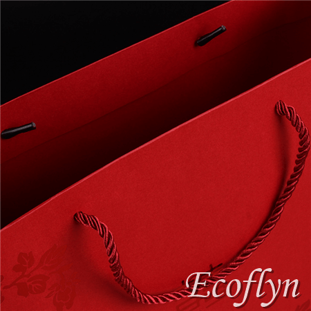 red paper bags with handles online