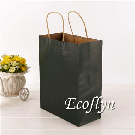 black kraft paper shopping bags gift handbags