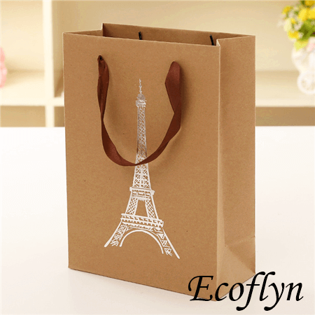Durable Quality Brown Paper Bags With Handle Gift Tote Bulk Supply