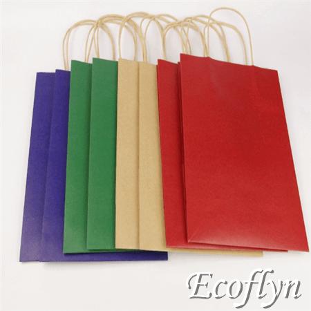 flat design paper bags
