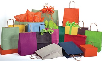 low minimum paper shopping bags promotional sale