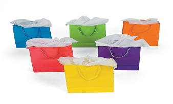 multicolor paper gift carrier bags bulk