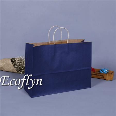navy blue kraft paper bags online sale