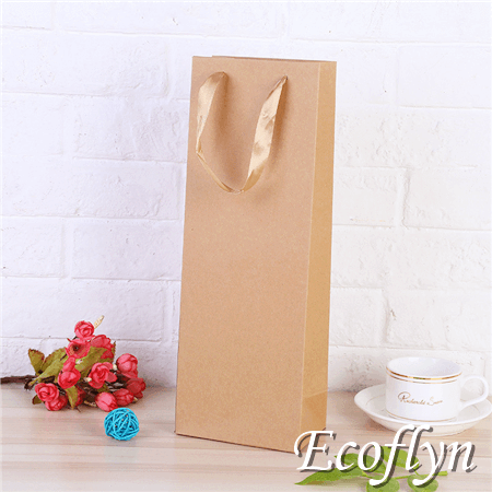 plain paper bags wine bottle bags online