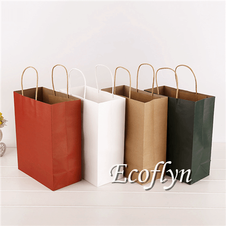 premium kraft paper shopping bags