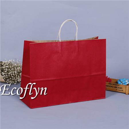 red premium kraft paper bags