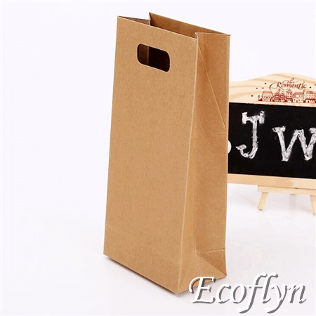 Small Paper Bags Mini Kraft Carrier Punched Handle
