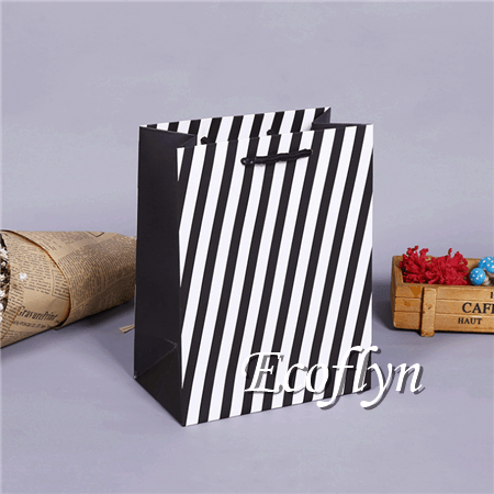 striped print shopping bags online