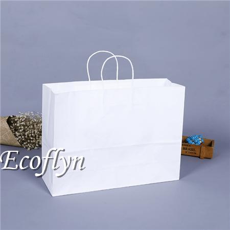 white kraft paper bags packaging bags