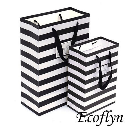 black and white striped paper party bags sale
