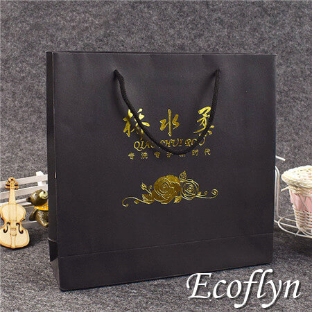 black gift bags wholesale-Ecoflyn