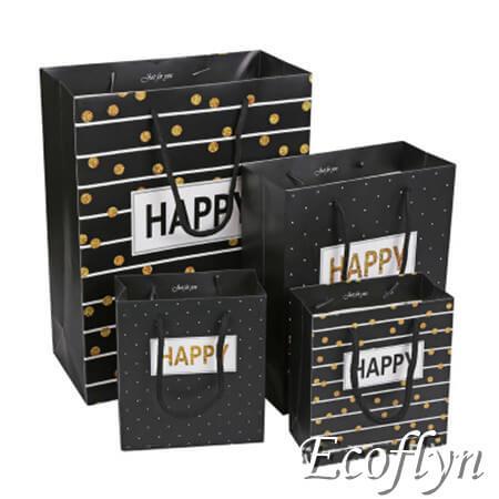 black paper bags decoration