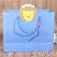 blue paper party bags
