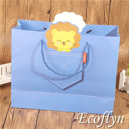 blue paper party bags gift tote bags