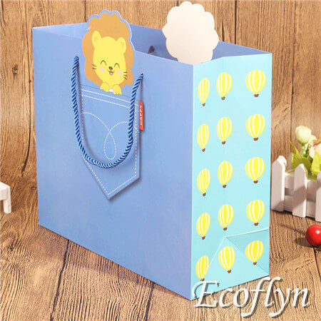 blue paper party bags holiday gift bags wholesale