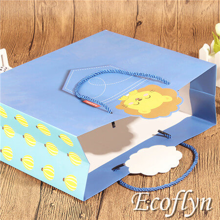 blue paper party bags online supply
