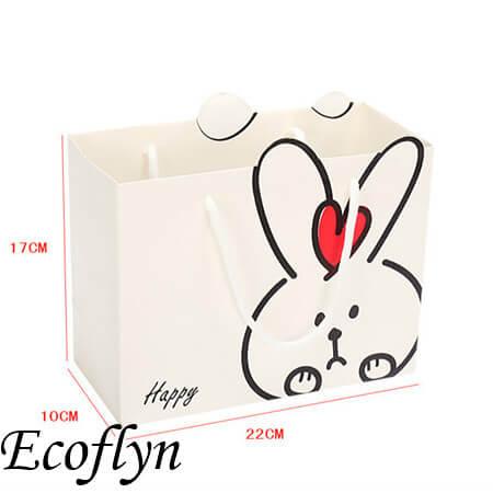 custom easter bunny paper bags