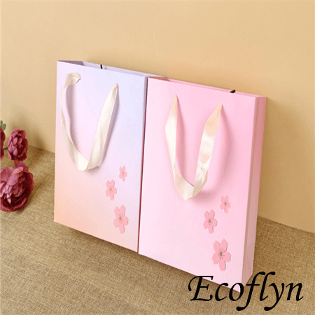custom shopping bags wholesale with ribbon handle