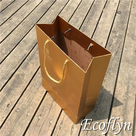 gold gift bags custom printed