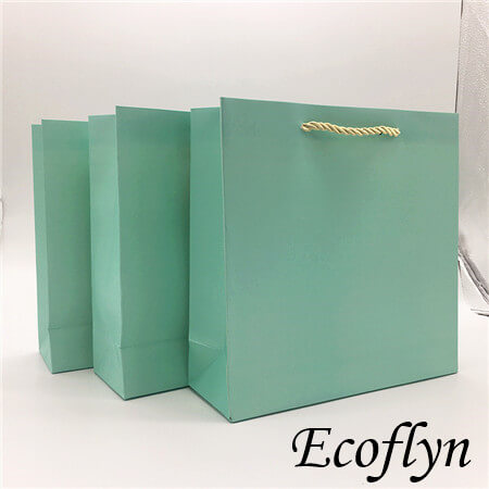 green gift bags paper promotion bags wholesale