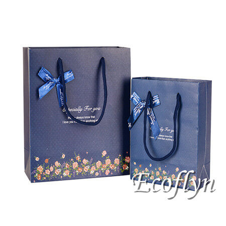 hot navy blue gift bags wedding decorative guests welcome bags