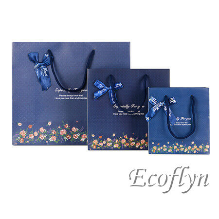 multisize quality navy blue gift bags wholesale