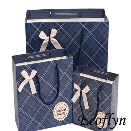 navy blue wedding paper gift bags
