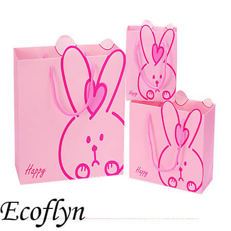pink easter bunny paper bags