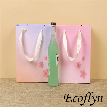 pink & purple shopping bags wholesale