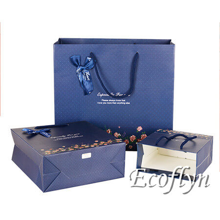 popular navy blue gift bags wedding gift carrier bags online