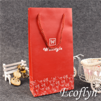 red gift bags holiday gift bags low minimum
