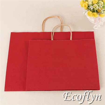 red paper bag decoration gift carrier bags low minimum