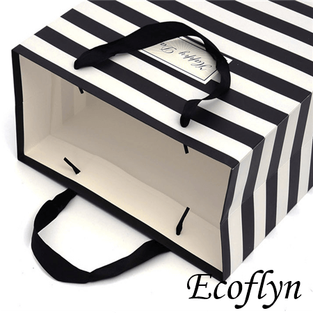 striped paper party bags jewelry tote bags