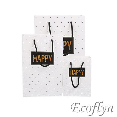 white paper bags decoration printed logo