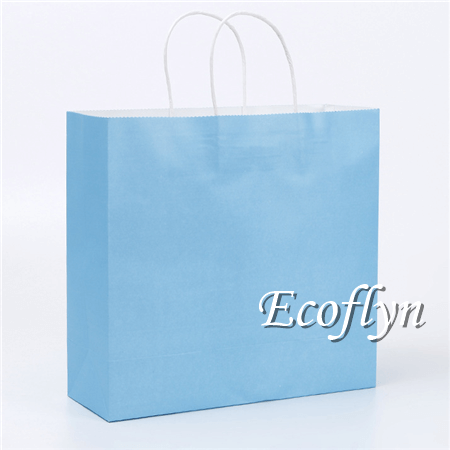 blue paper shopping bags wholesale