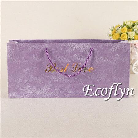 bulk custom large purple gift bags