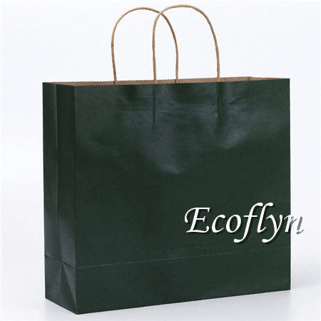 dark green paper shopping bags wholesale
