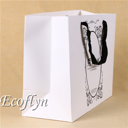 high quality white printed gift bags