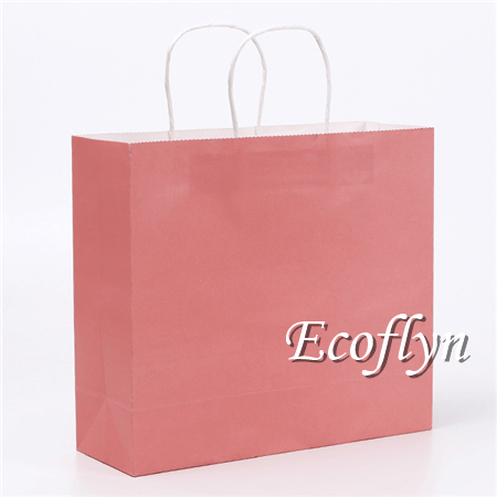 hot pink paper shopping bags wholesale