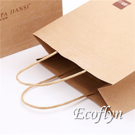 kraft paper shopping bags with handles
