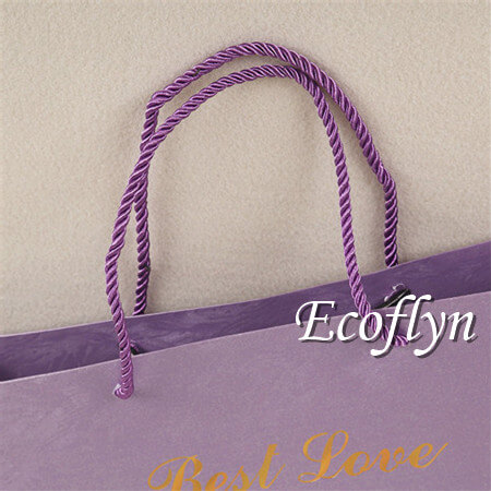 large purple gift bags paper handle bags