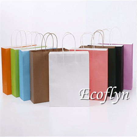multicolor paper shopping bags wholesale