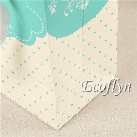 polka dot print paper shopping bags with handles