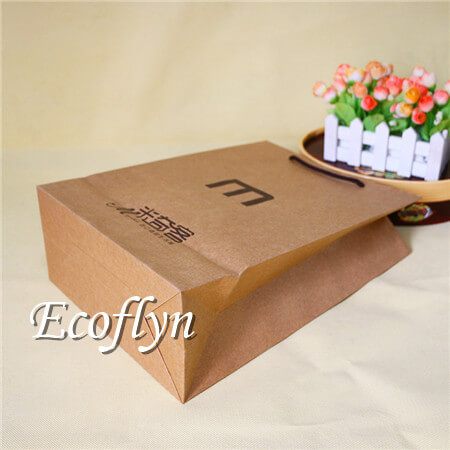 Printed Brown Paper Bags With Handles Bulk